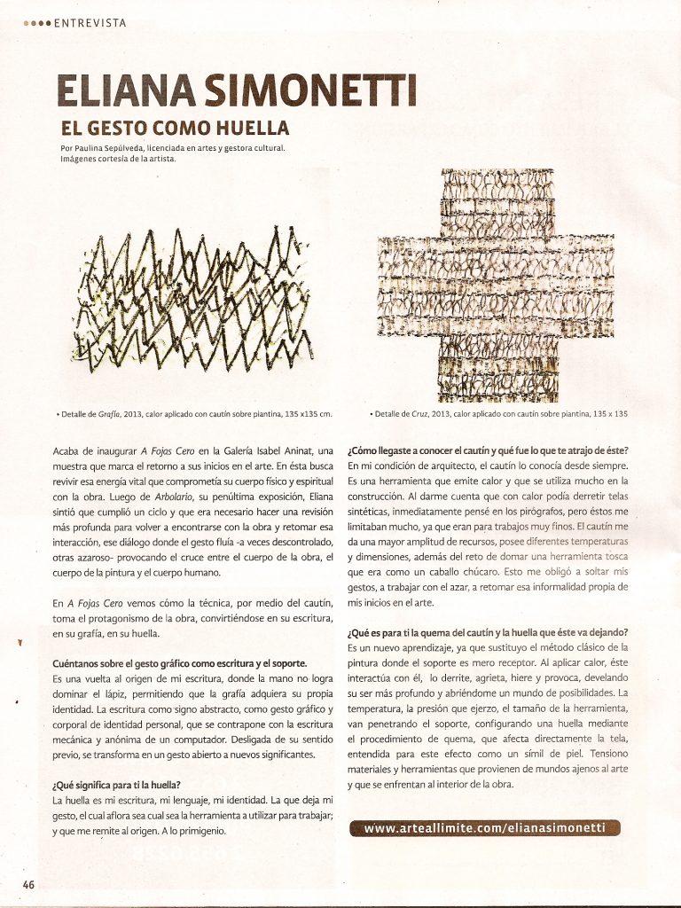 Entrevista diario Arte al Límitre